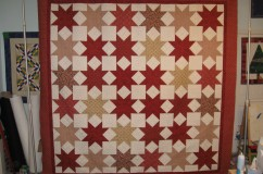 Client Pieced Ohio Star Quilt