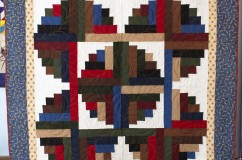 Skewed Log Cabin Quilt
