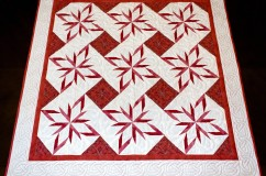 Red and White Star Quilt