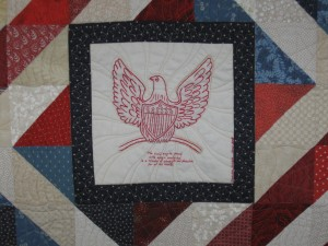 Client pieced Patriotic Eagle Quilt